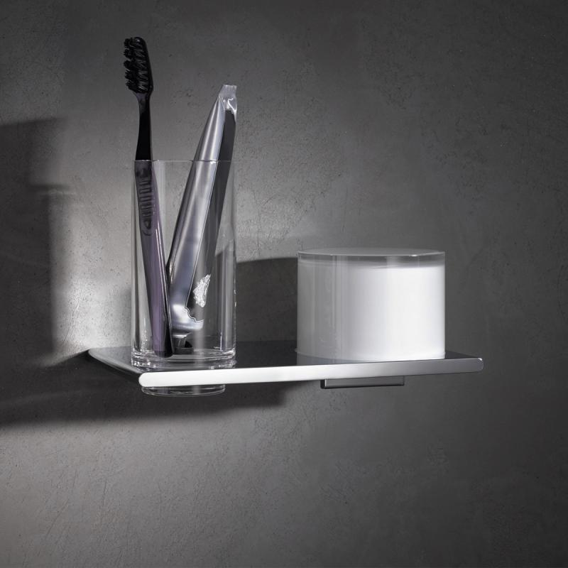 keuco edition 400 doppelhalter glas und lotionspender wandmontage 11553019000 reuter. Black Bedroom Furniture Sets. Home Design Ideas