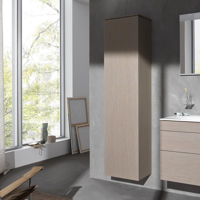 keuco edition 400 hochschrank mit 1 t r und 1 regal front eiche cashmere korpus eiche cashmere. Black Bedroom Furniture Sets. Home Design Ideas