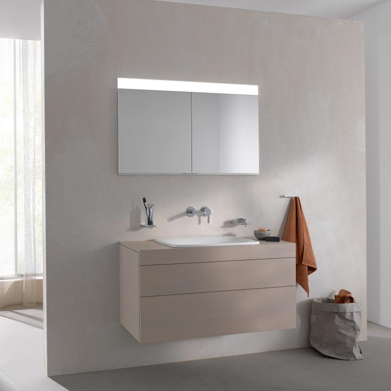 keuco edition 400 unterputz spiegelschrank farbtemperatur einstellbar mit spiegelheizung. Black Bedroom Furniture Sets. Home Design Ideas