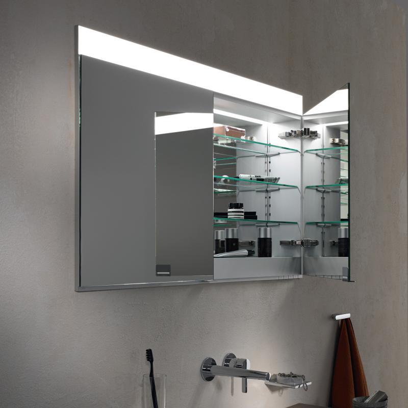 keuco edition 400 unterputz spiegelschrank neutralwei ohne spiegelheizung 21512171301 reuter. Black Bedroom Furniture Sets. Home Design Ideas