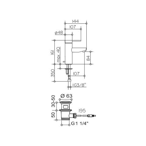 keuco plan blue einhebel waschtischmischer 90 mit ablaufgarnitur 53902010000 reuter. Black Bedroom Furniture Sets. Home Design Ideas