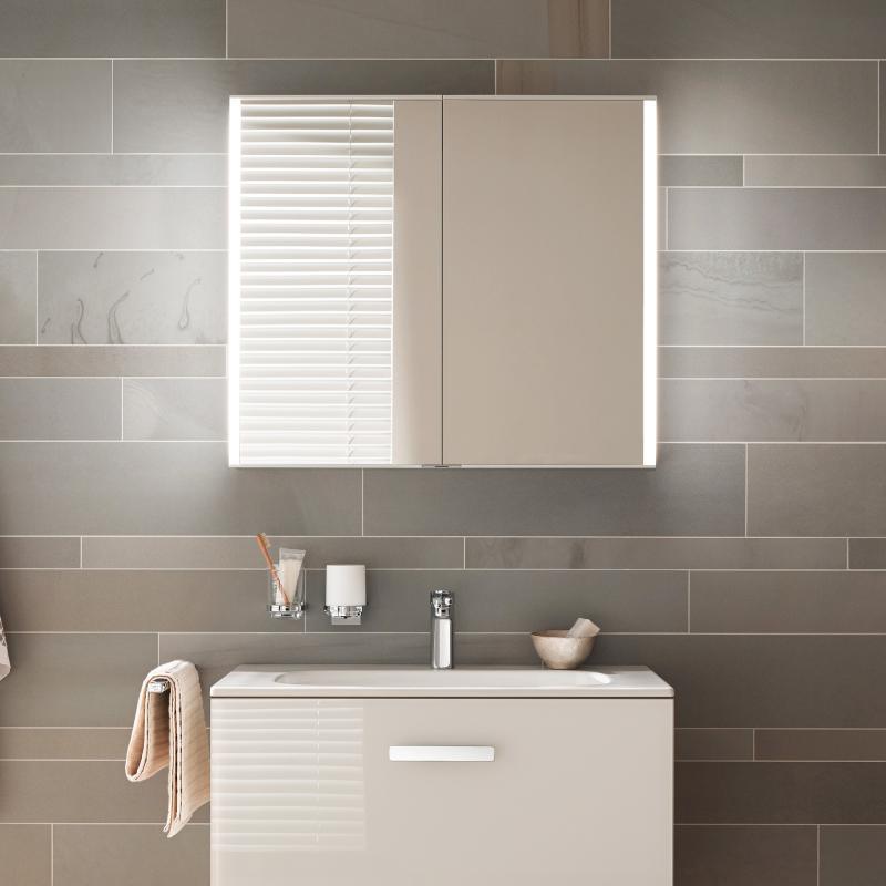 keuco royal match spiegelschrank mit led beleuchtung 12801171301 reuter. Black Bedroom Furniture Sets. Home Design Ideas