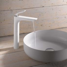 Kludi BALANCE Waschschüssel-Einhandmischer ohne Ablaufgarnitur, chrom/weiß