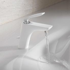 Kludi BALANCE Waschtisch-Einhandmischer mit Ablaufgarnitur, chrom/weiß