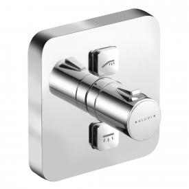 Kludi PUSH Unterputz-Brause-Thermostatarmatur, eckig, 2 Verbraucher