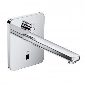 Kludi ZENTA Elektronische Waschtischarmatur, soft-edge Rosette, mit Temperaturwählgriff Ausladung: 240 mm