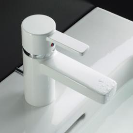 Kludi ZENTA Waschtisch-Einhandmischer mit Ablaufgarnitur, chrom/weiß