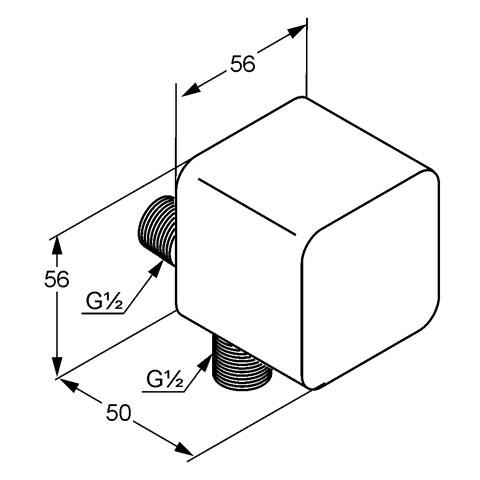 Kludi A-QA Schlauch-Anschlussbogen mit Rückflussverhinderer chrom