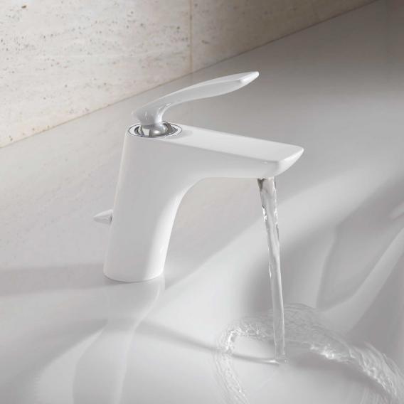 Kludi BALANCE Waschtischarmatur mit Ablaufgarnitur, chrom/weiß