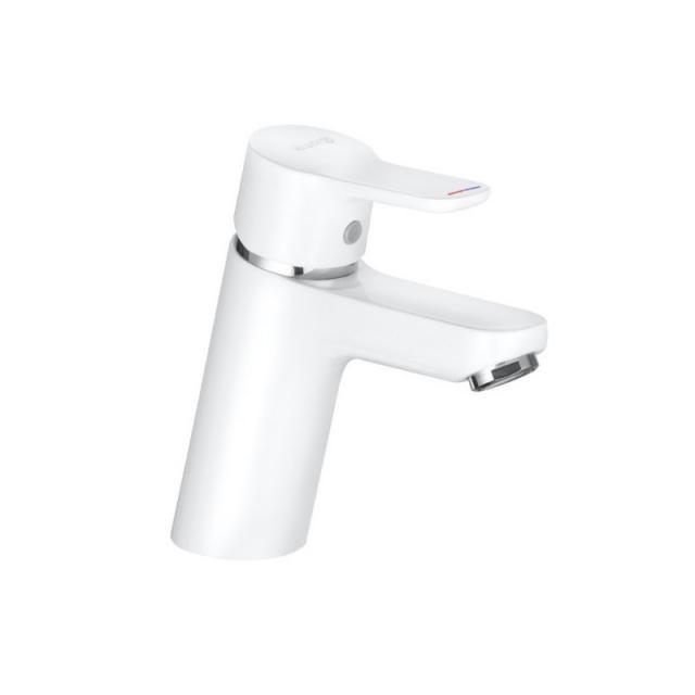 Kludi PURE&EASY Waschtisch-Einhandmischer 70 ohne Ablaufgarnitur, weiß/chrom