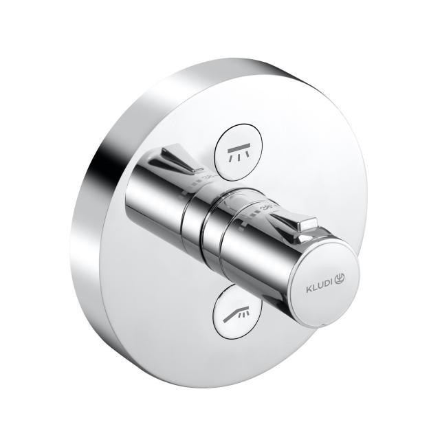 Kludi PUSH Unterputz-Brause-Thermostatarmatur, rund