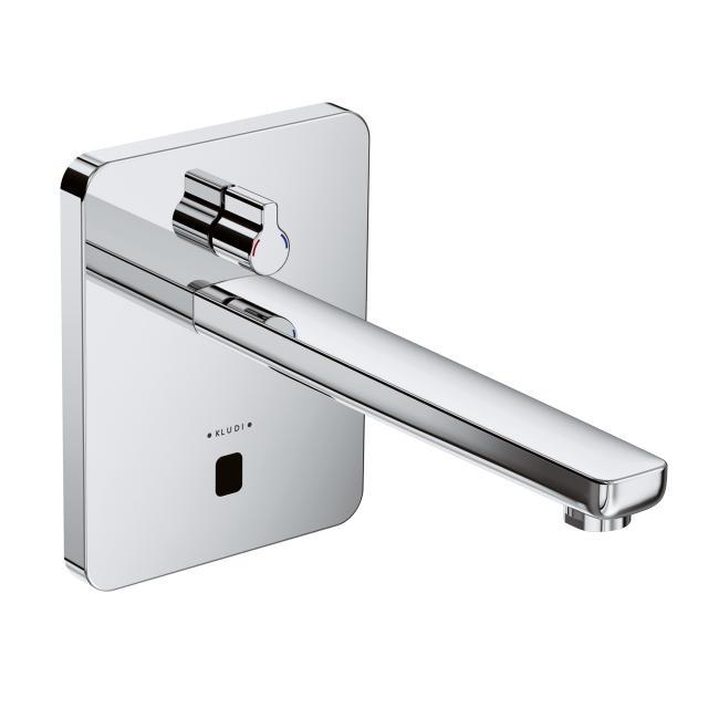 Kludi ZENTA Elektronische Wand-Waschtischarmatur mit Temperaturregulierung Ausladung: 240 mm