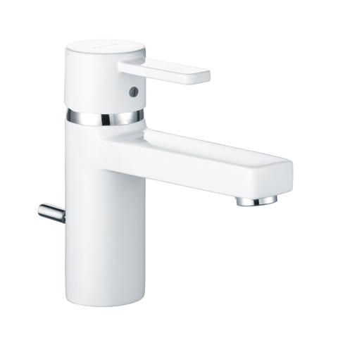 Kludi ZENTA Waschtischarmatur XL mit Ablaufgarnitur, chrom/weiß