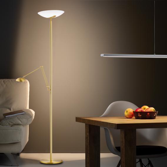 Knapstein LED Stehleuchte mit Lesearm und Dimmer