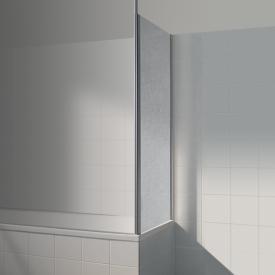 Koralle Avant Trennwand für Badewannenabtrennung Kunstglas Polyrit aquaperl transparent / silber matt
