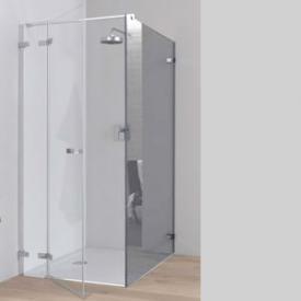 Koralle S700 Trennwand für Pendeltür ESG transparent incl. GlasPlus / Silber glanz