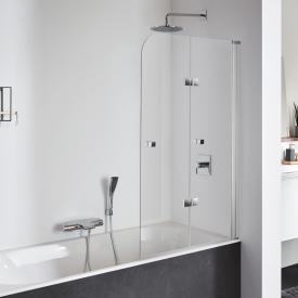 Koralle SL410 Falttür für Badewanne ESG transparent / silber matt