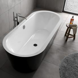 Koralle T700 Freistehende Oval-Badewanne weiß / schwarz