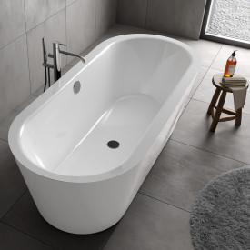 Koralle T700 Freistehende Oval-Badewanne weiß / weiß