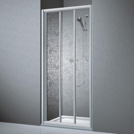 Koralle Twiggy Top Duschschiebetür 3-teilig für Trennwand oder Nische Polyrit aquaperl transparent / silber matt