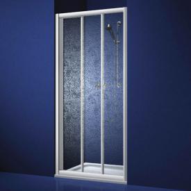 Koralle Twiggy Top Duschschiebetür 3-teilig für Trennwand oder Nische B: 120 H: 185 cm Polyrit aquaperl transparent / Silber matt