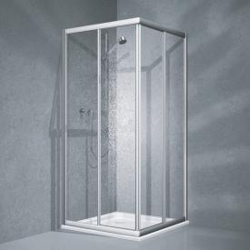 Koralle Twiggy Top Eckduschen-Schiebetür 2-teilig Polyrit aquaperl transparent / Silber matt