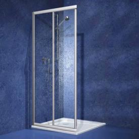Koralle Twiggy Top Schiebetür 2-teilig für Eckeinstieg Kunstglas Polyrit aquaperl transparent / silber matt