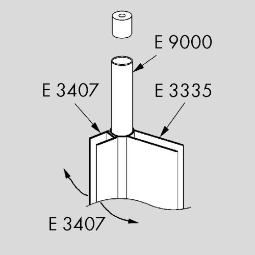 Koralle E 3335 / E 3407 / E 9000 Verbindungsprofil 140 cm silber matt