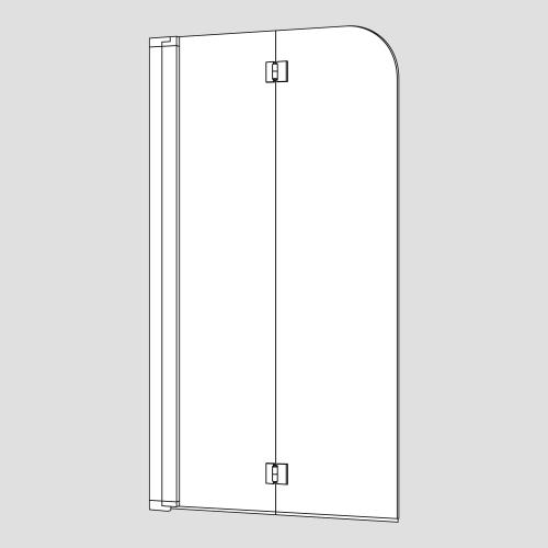 Koralle myDay Duschfalttür für Badewanne 2-teilig BF2A ESG transparent / Silber matt