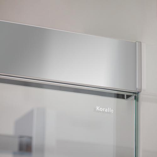 Koralle S606Plus Walk In Schiebetür ESG transparent / silber hochglanz/hochglanz