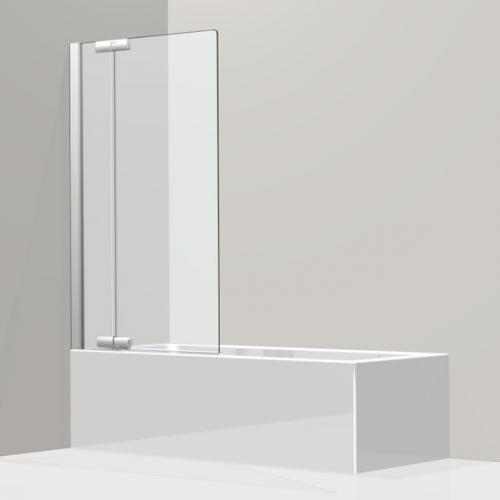 Koralle S800 Pendeltür für Badewanne ESG transparent / silber hochglanz