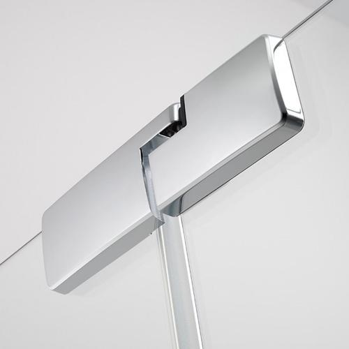 Koralle S800 Pendeltür für Trennwand ESG transparent / Silber hochglanz