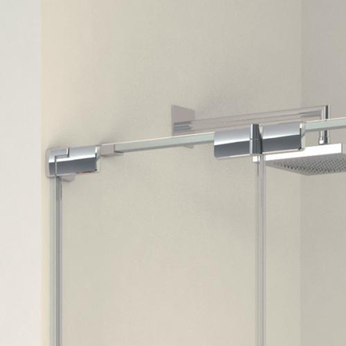 Koralle S808 Duschfalttür für Badewanne, 2-Teilig ESG transparent incl. GlasPlus / silber hochglanz