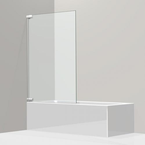 Koralle S808 Pendeltür für Badewanne, 1-teilig ESG transparent / silber hochglanz