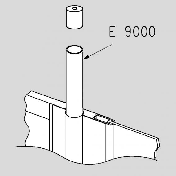 Koralle E 2509 / E 9000 Flucht-Verbindungsprofil 140 cm silber matt