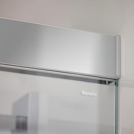 Koralle S606Plus Schiebetür auf Badewanne, 2-teilig ESG transparent / silber hochglanz/hochglanz