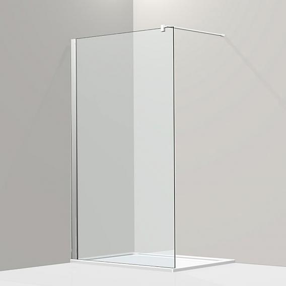 Koralle S800 Walk-In ESG transparent mit GlasPlus / silber hochglanz