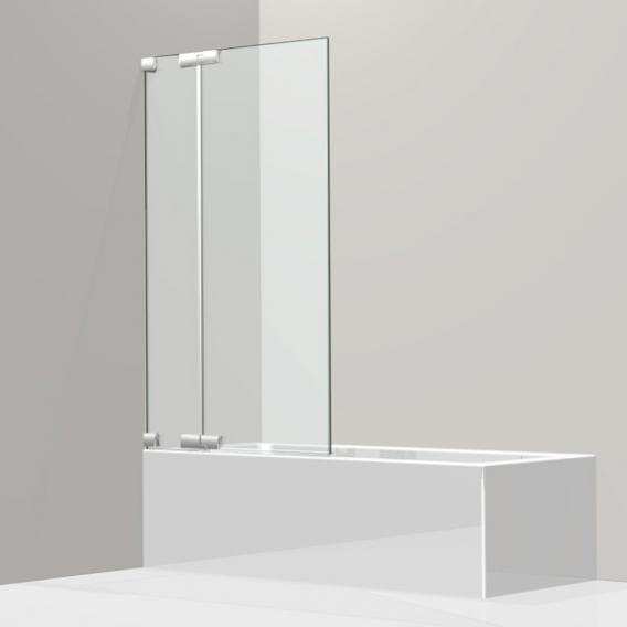 Koralle S808 Pendeltür für Badewanne ESG transparent / silber hochglanz