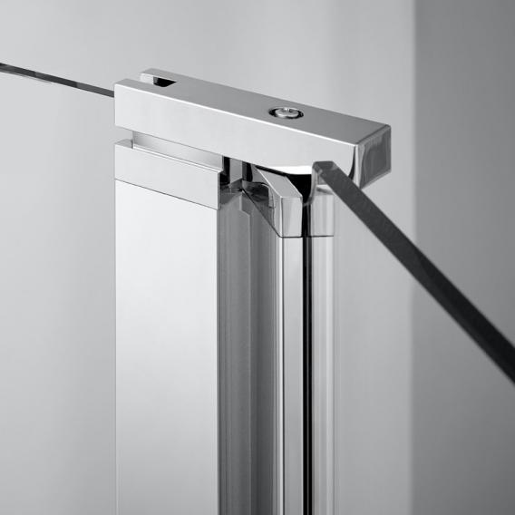 Koralle SL410 Pendeltür für Trennwand ESG transparent mit GlasPlus / silber matt
