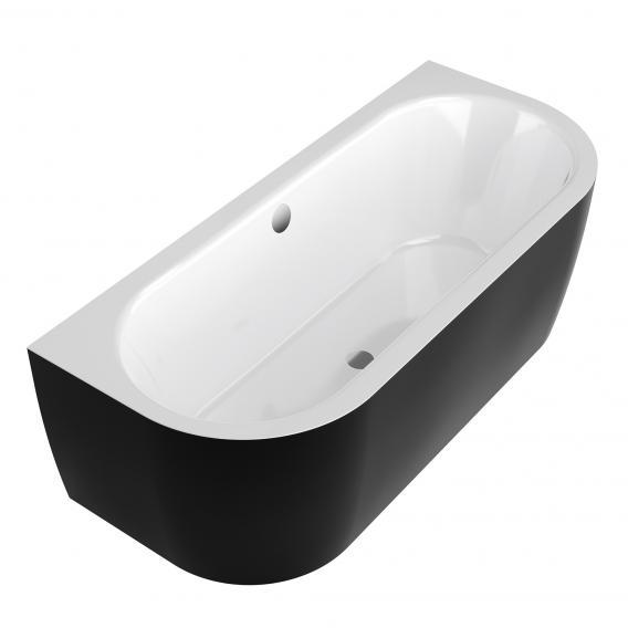 Koralle T700 Vorwand Oval Badewanne weiß / schwarz