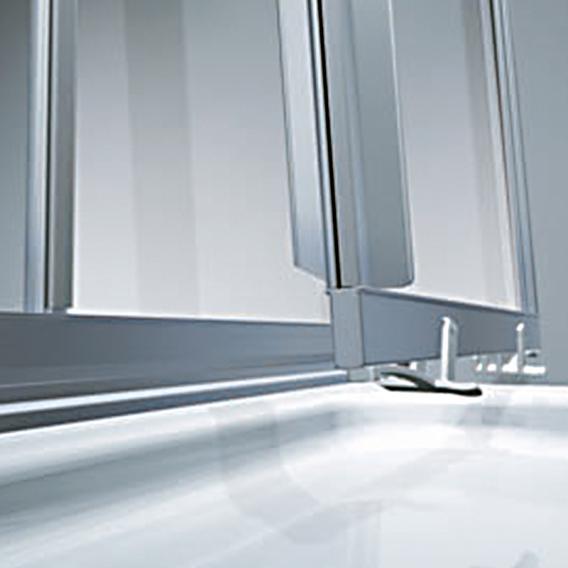 koralle twiggy top duschschiebet r 3 teilig f r trennwand oder nische esg transparent silber. Black Bedroom Furniture Sets. Home Design Ideas