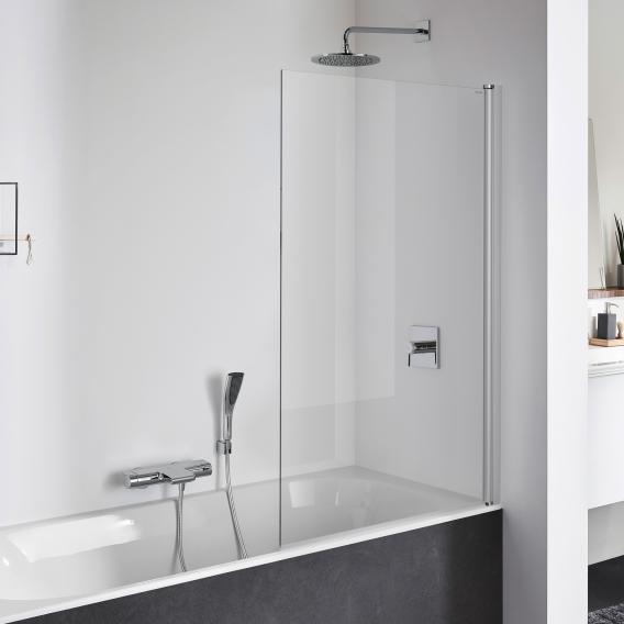 Koralle TwiggyPlus Pendeltür für Badewanne ESG transparent / silber matt