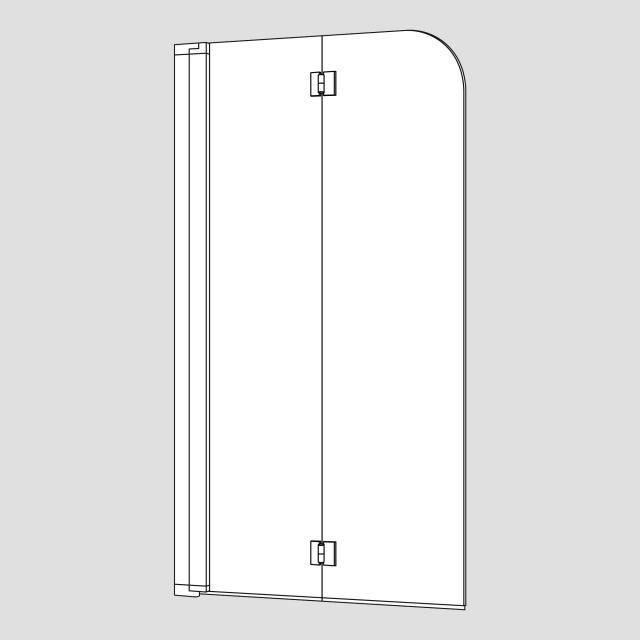Koralle myDay Duschfalttür 2-teilig für Badewanne ESG transparent mit GlasPlus / silber matt