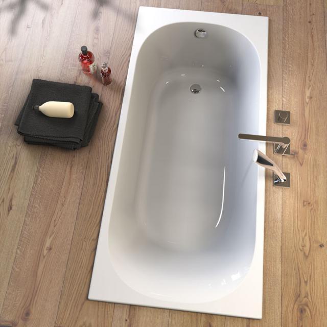 Koralle T300 Rechteck-Badewanne mit 1 Rückenschräge