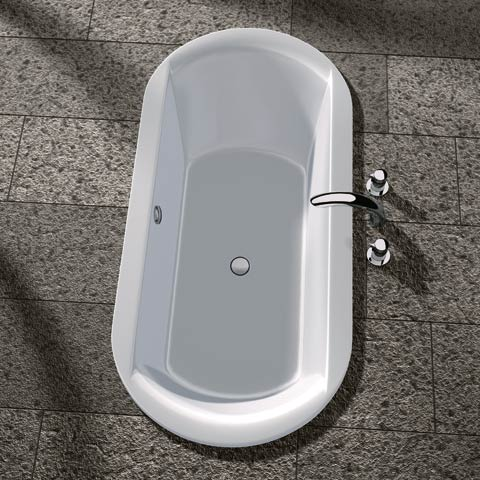 Koralle T700 Oval-Badewanne weiß