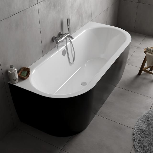 Koralle T700 Vorwand-Badewanne mit Verkleidung weiß / schwarz