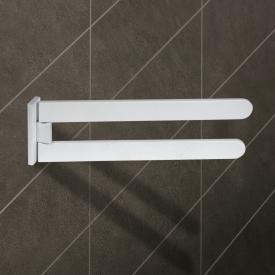 KOH-I-NOOR MATERIA schwenkbarer Handtuchhalter weiß