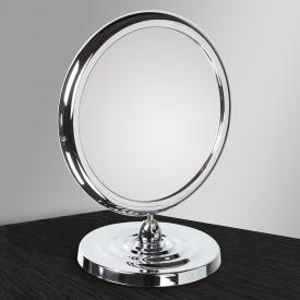 KOH-I-NOOR TOELETTA doppelseitiger Stand-Kosmetikspiegel mit Fuß Vergrößerung 3-fach, chrom