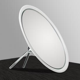 KOH-I-NOOR TOELETTA einseitiger Stand-Kosmetikspiegel mit Klappständer Vergrößerung 6-fach, weiß