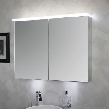 KOH I NOOR TOP Spiegelschrank mit 2 Türen und Oberbeleuchtung